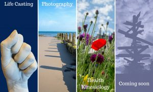 Life casting, photography, health kinesiology